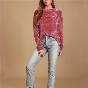 Philosophy maroon chenille sweater